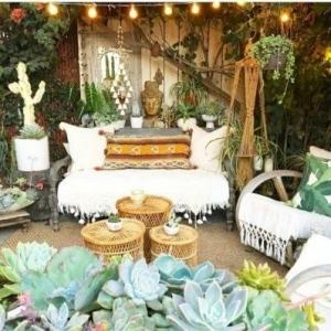 9 // Boho // Plants // Outdoor Spaces
